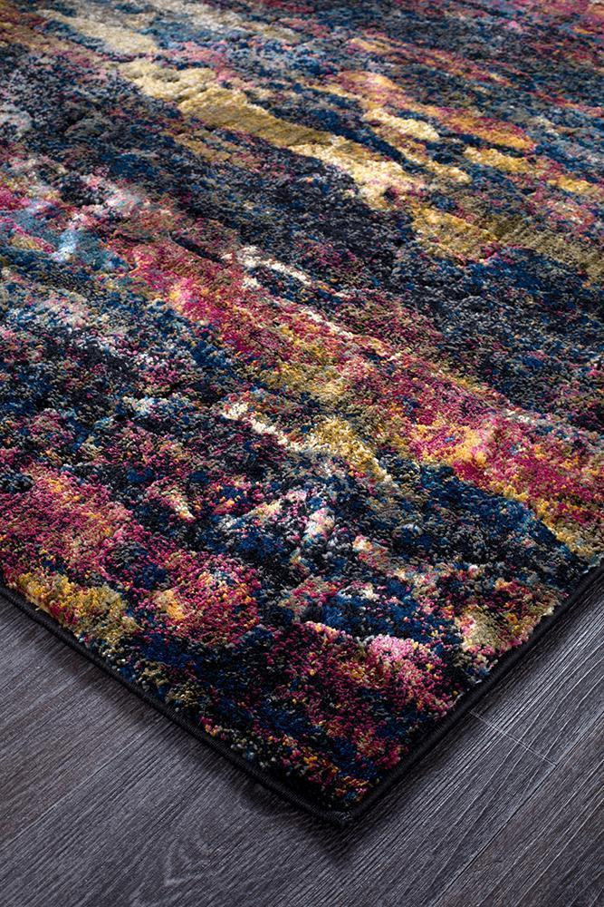 Dreamscape Splash Modern Midnight Runner Rug