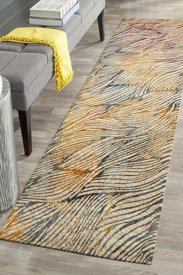 ADINA Splash Modern Midnight Runner Rug