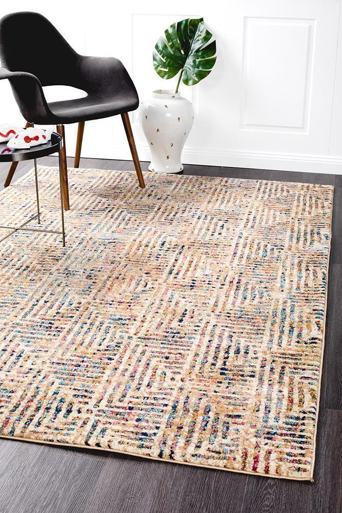 Oasis Noah White Blue Contemporary Rug