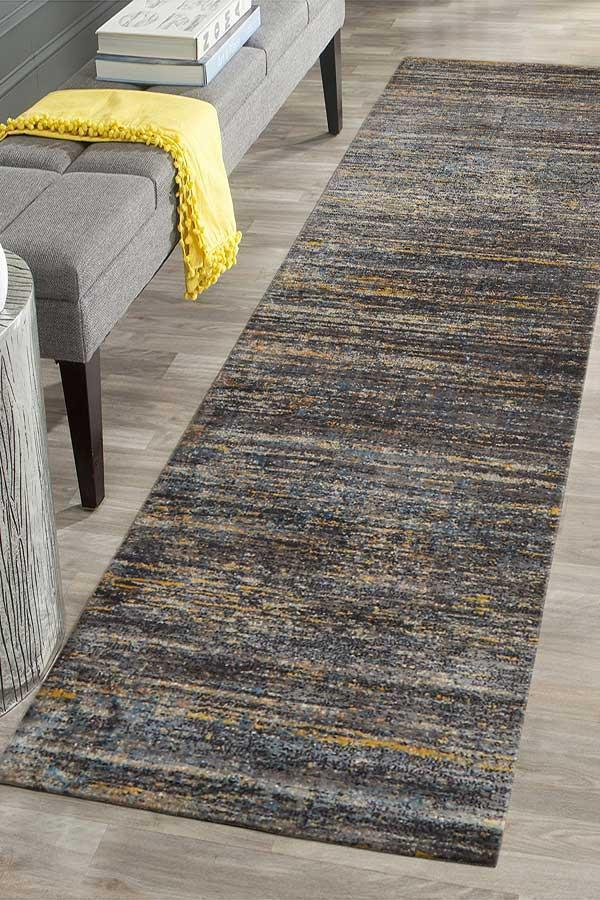 Mirage Adani  Modern Tribal Design Navy Runner Rug