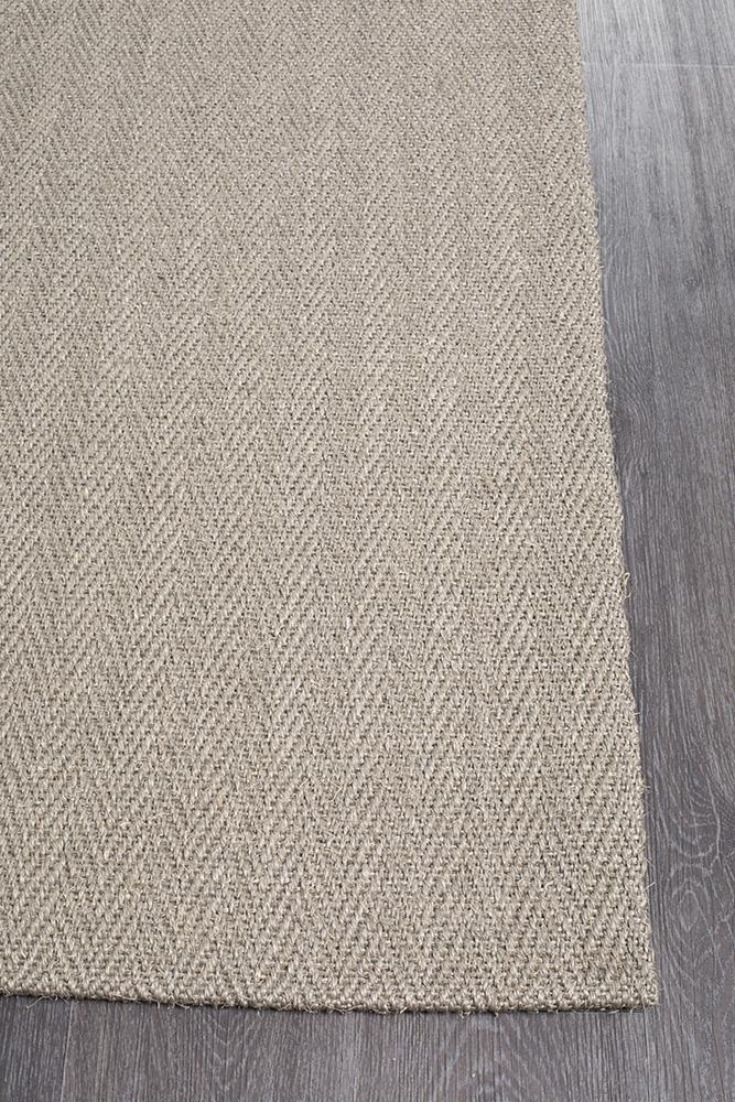 Eco Sisal Herringbone Grey Rug