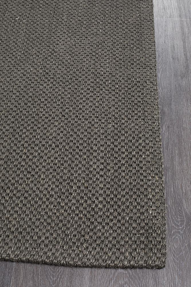 Eco Sisal Tiger Eye Charcoal Rug