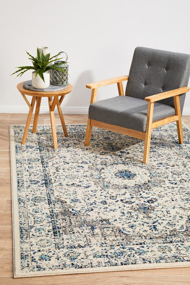 ENVI Horizon White Navy Transitional Rug