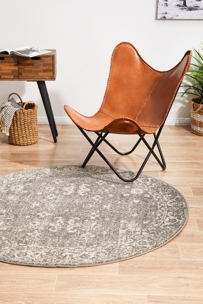 ENVI Pidgeon Grey Transitional Round Rug