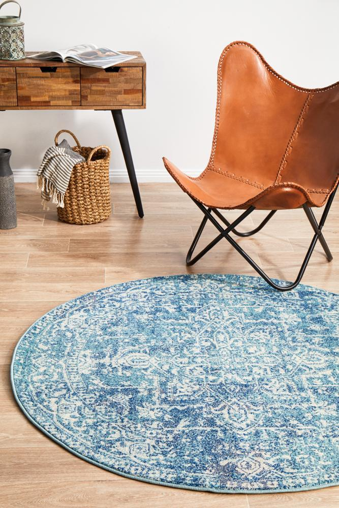 ENVI Muse Blue Transitional Round Rug