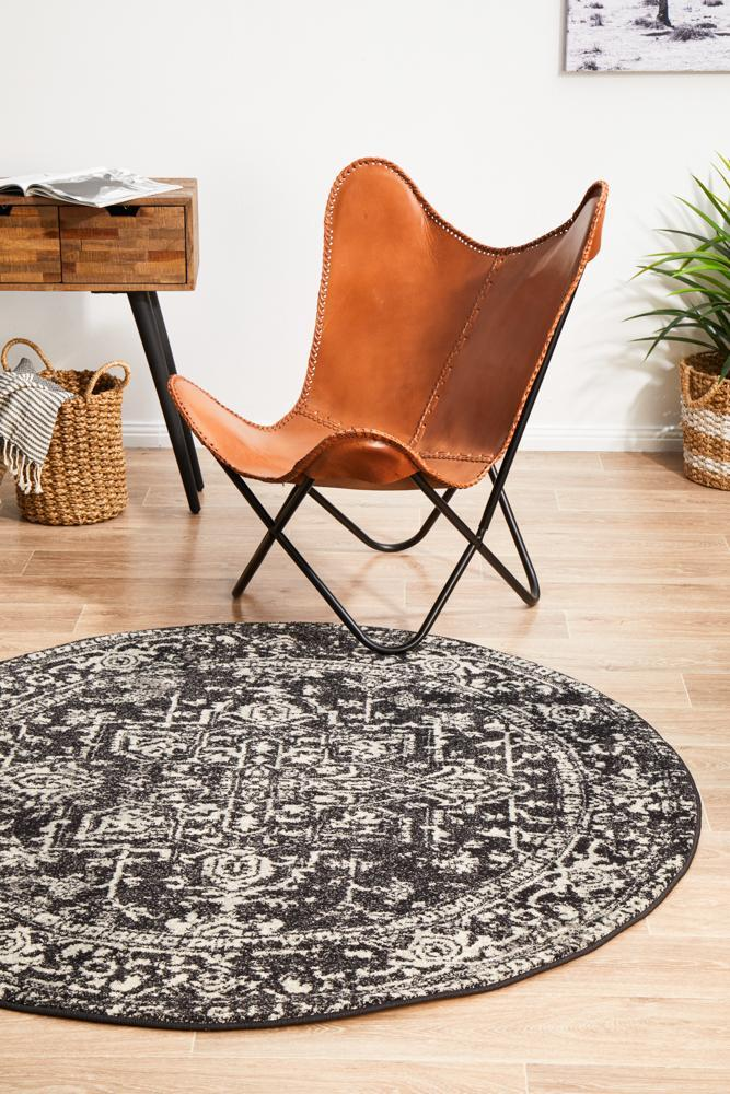 ENVI Scape Charcoal Transitional Round Rug