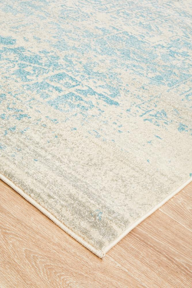 ENVI Glacier White Blue Transitional Rug