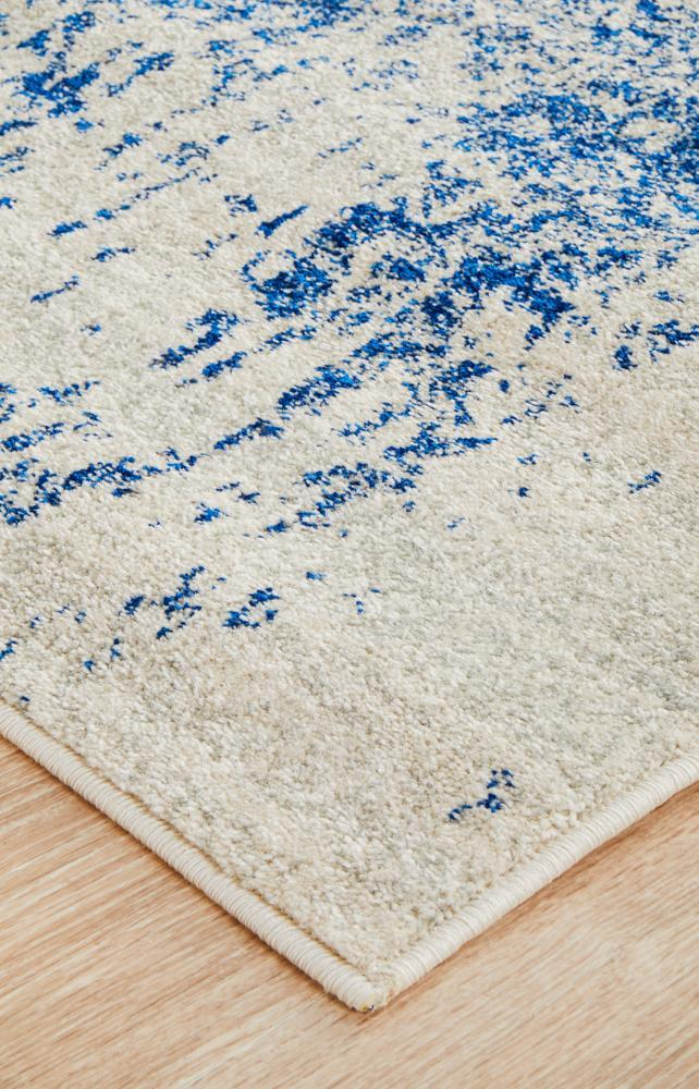 ENVI Horizon White Navy Transitional Runner Rug