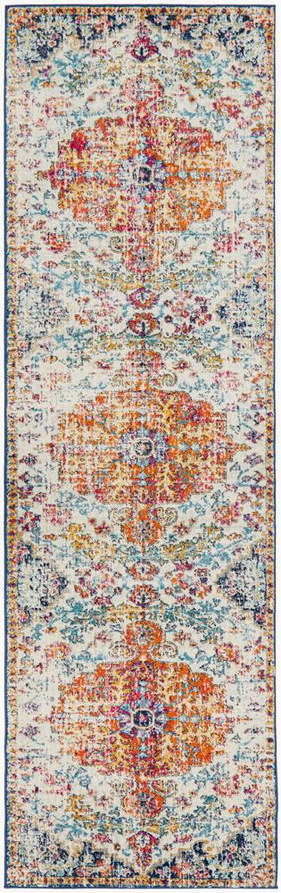 ENVI Carnival White Transitional Runner Rug