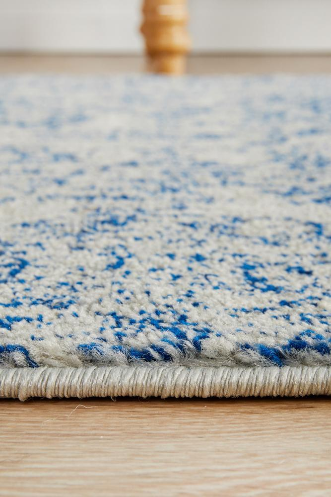 ENVI Frost Blue Transitional Runner Rug
