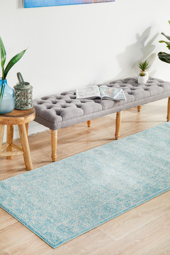 ENVI Depth Blue Transitional Runner Rug