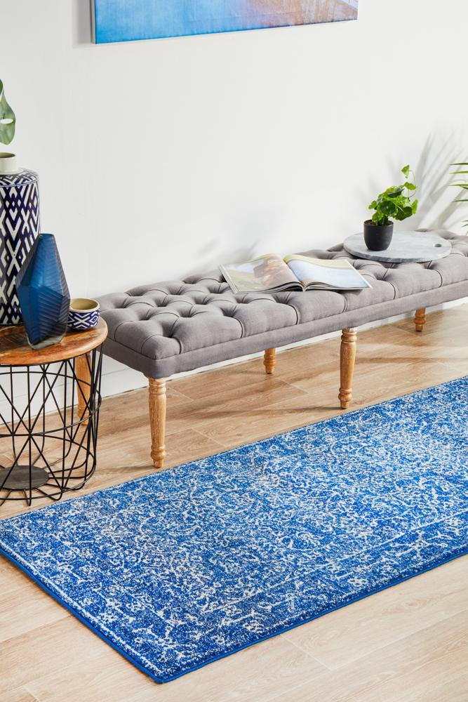 ENVI Artist Navy Transitional Runner Rug