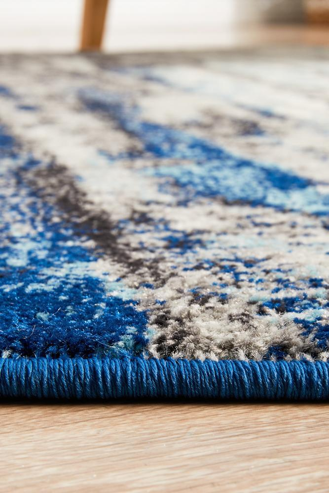 ENVI Transpose Blue Transitional Round Rug