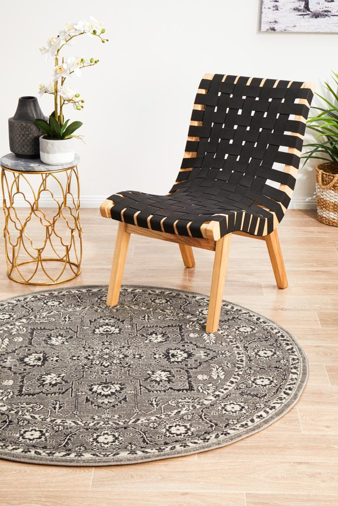 ENVI Stone Grey Transitional Round Rug