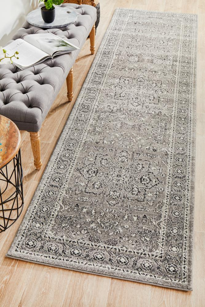 ENVI Stone Grey Transitional Runner Rug