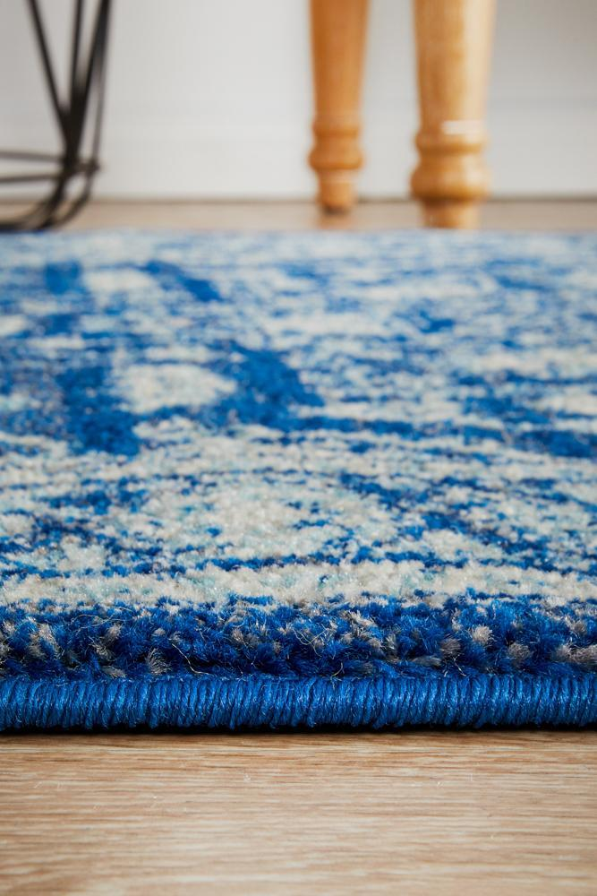 ENVI Release Navy Transitional Runner Rug