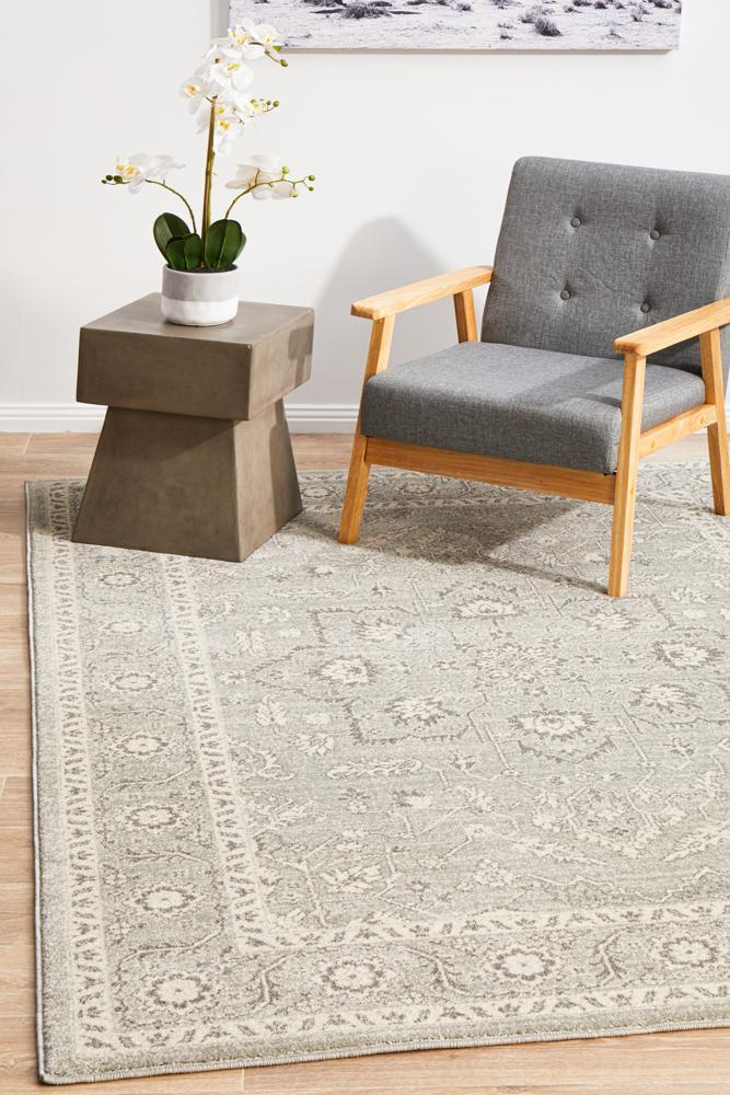 ENVI Silver Flower Transitional Rug