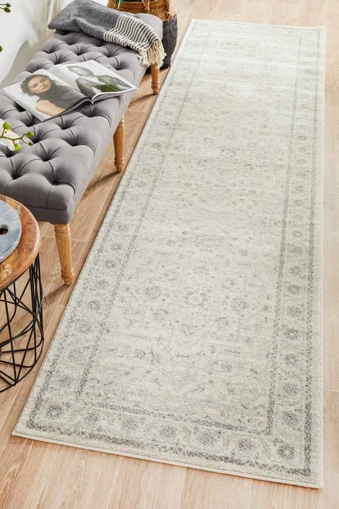 ENVI Winter White Transitional Runner Rug