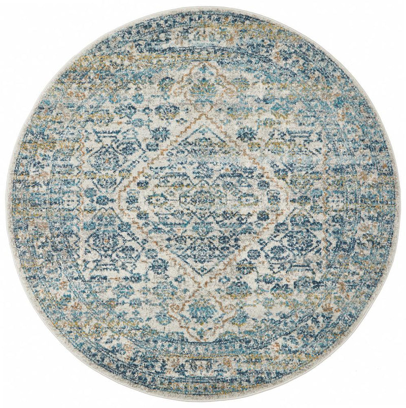 ENVI Duality Silver Transitional Round Rug