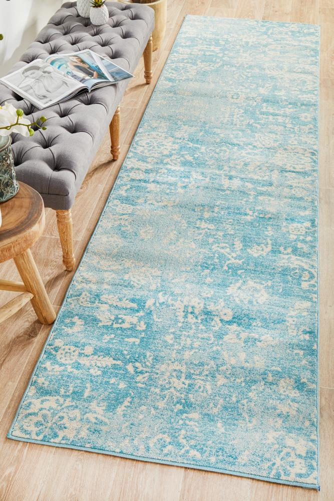ENVI Skyline Blue Transitional Runner Rug