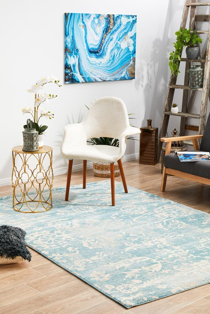 Evoke Skyline Blue Transitional Rug