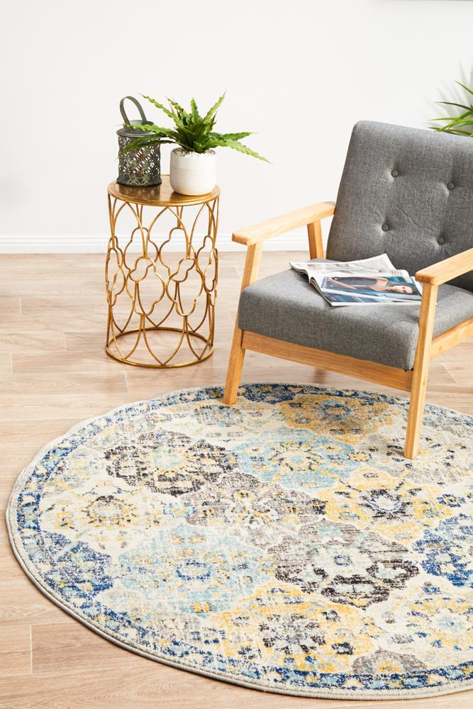 ENVI Poppy Multi Transitional Round Rug