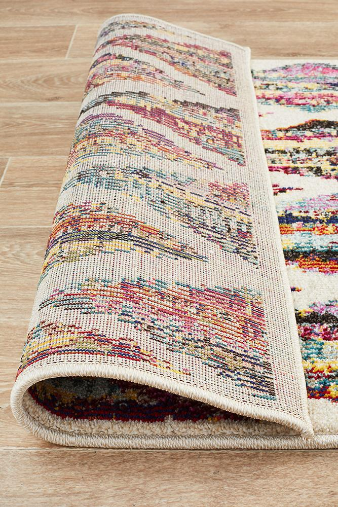 Gemini Modern 502 Multi Coloured Runner Rug