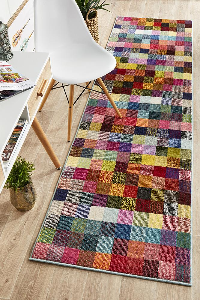 Gemini Modern 511 Multi Coloured Runner Rug