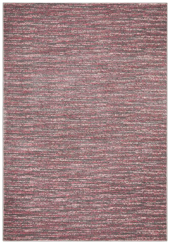 BENON Pandora Contemporary Stripe Pink Grey Rug