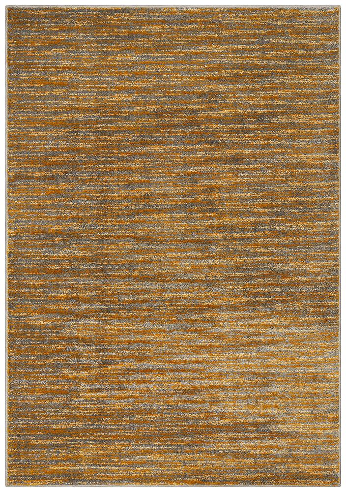 BENON Pandora Contemporary Stripe Rust Grey Rug