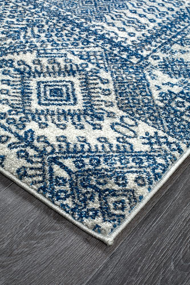 Mirage Zelda Grey Navy Rug