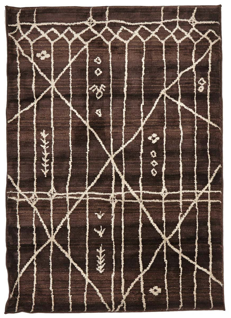 Moroccon Style  Tribal Design Chocolate Rug