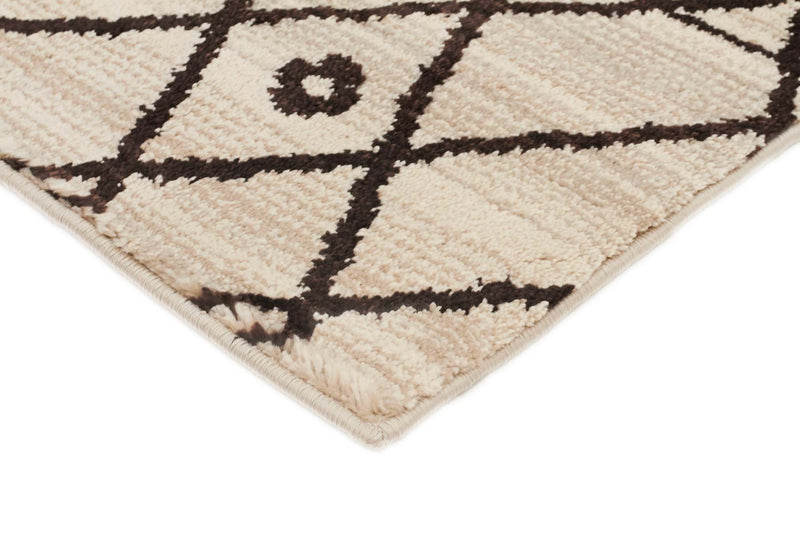 Moroccon Style  Lines Design Cream Rug