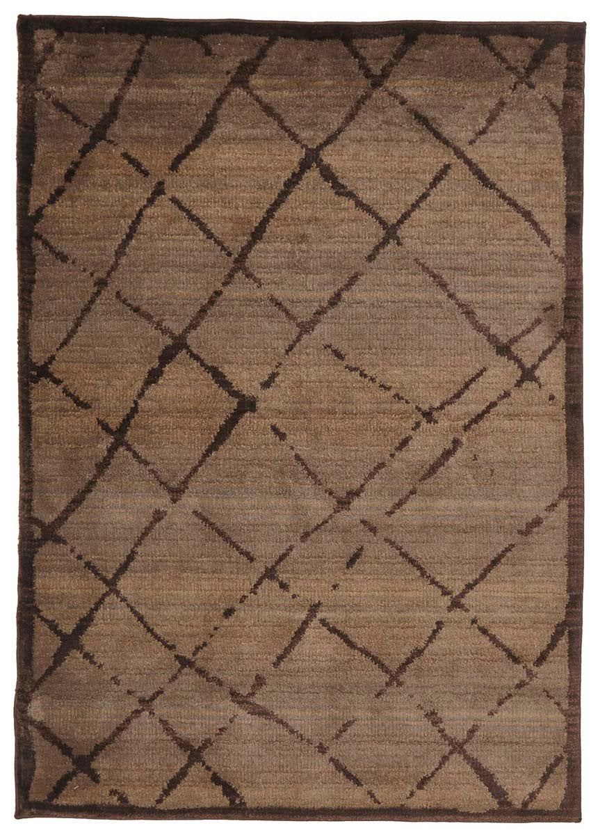Moroccon Style  Rustic Design Chocolate Rug
