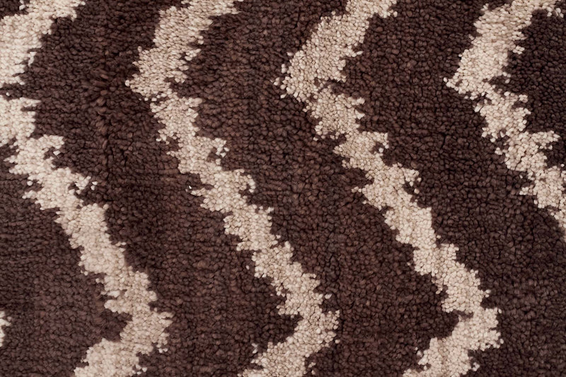 Moroccon Style  Chevron Design Brown Beige Rug