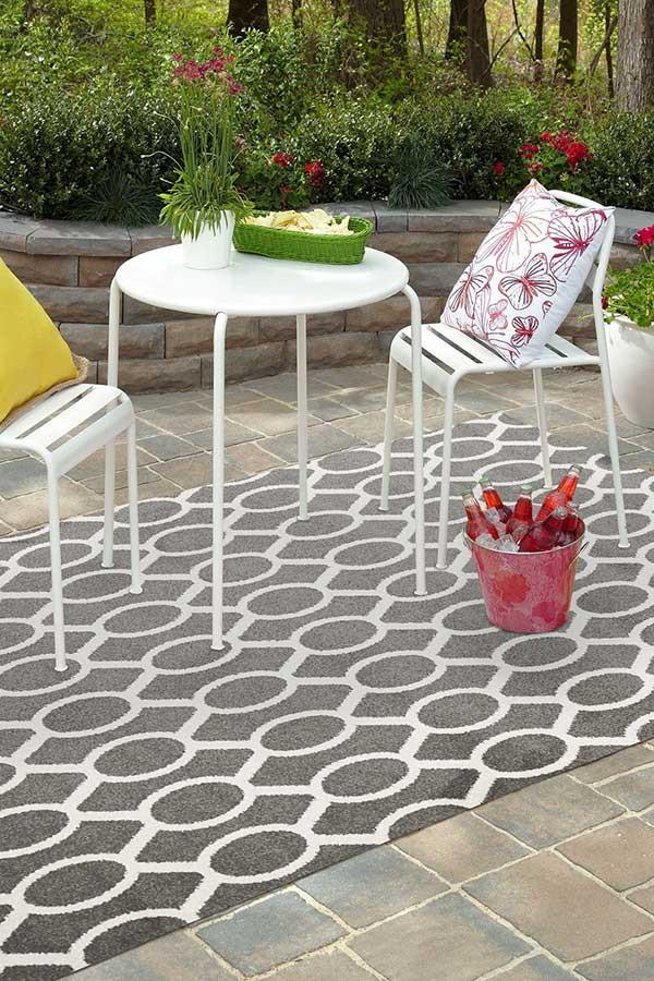 Marquee Indoor Outdoor 313 Grey Rug