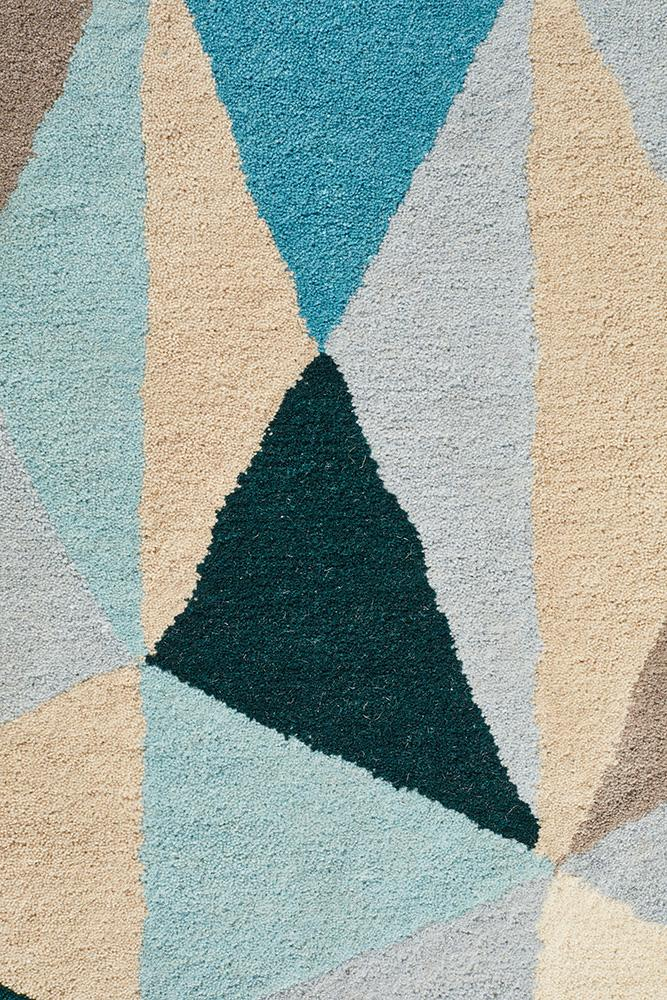 Matrix Pure Wool 901 Turquoise Rug
