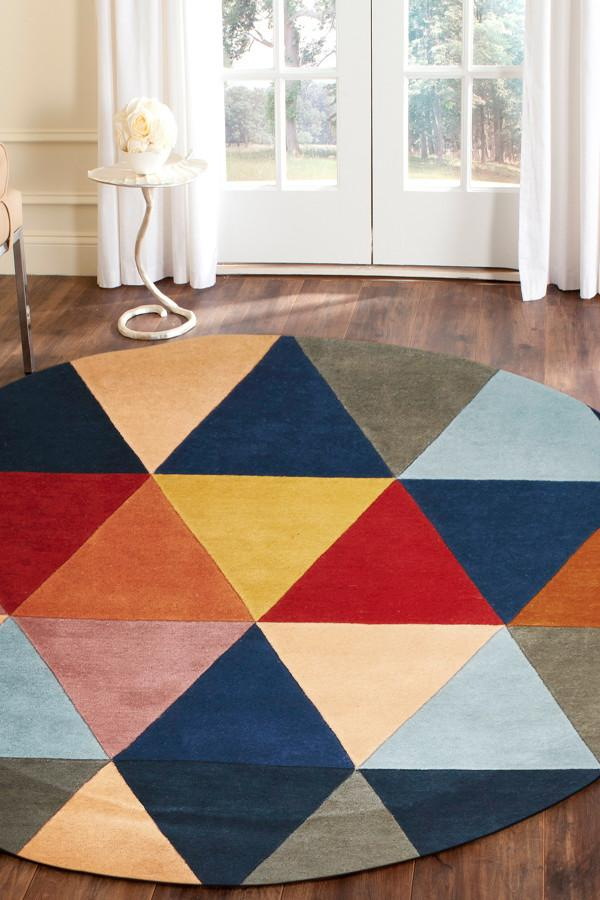 Matrix Pure Wool 906 Crayon Round Rug