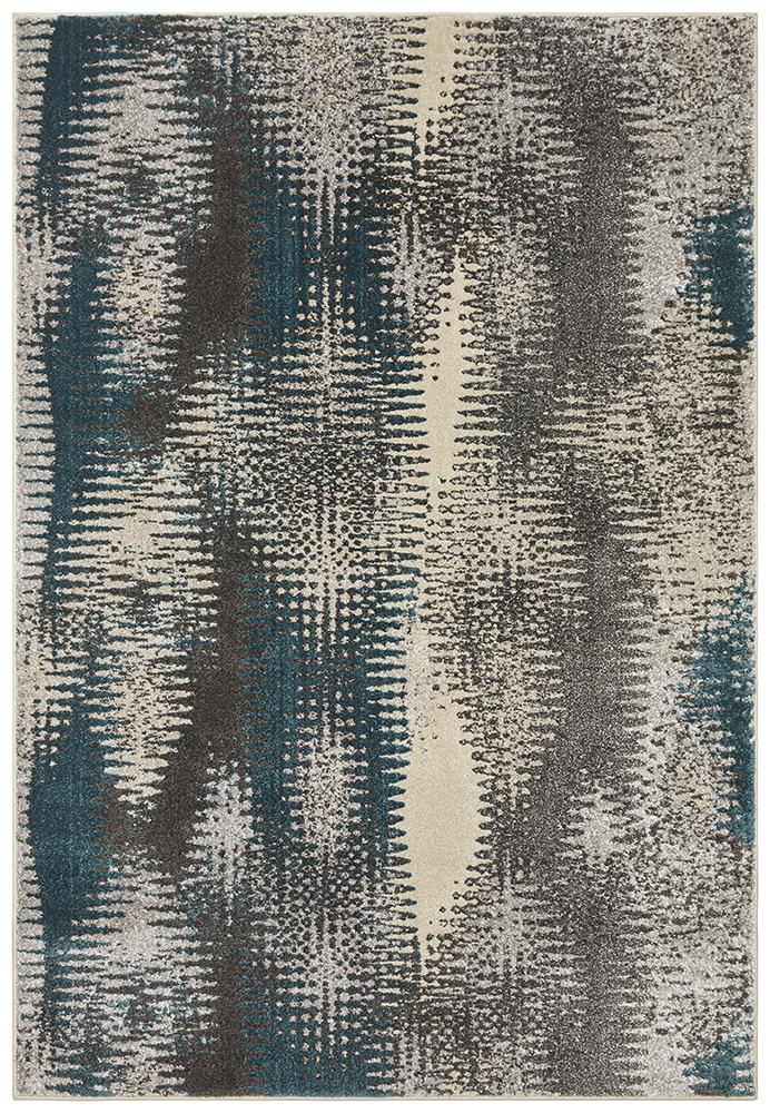 EDEN Hannah Matrix Rug Blue Grey