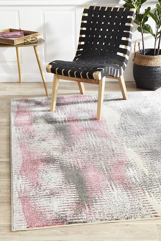 EDEN Hannah Matrix Rug Pink Grey