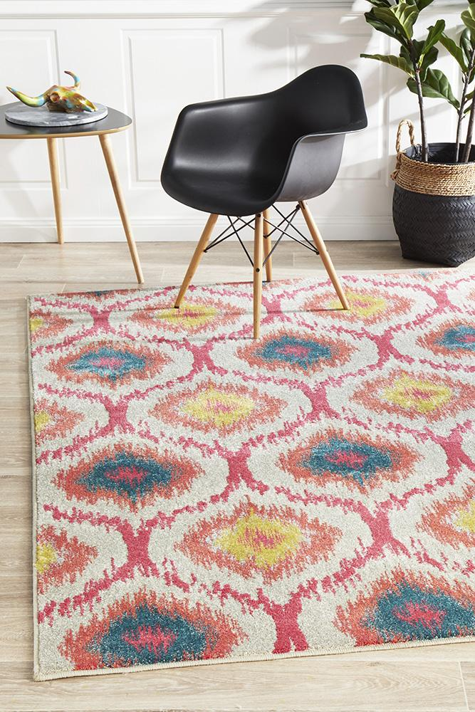 EDEN Gypsy Heirloom Rug Pink Yellow Grey