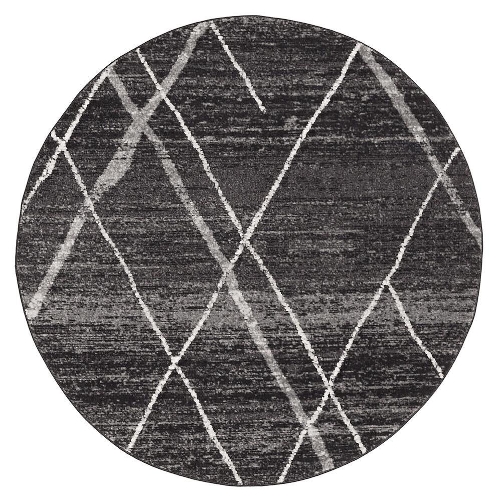 Oasis Noah Charcoal Contemporary Round Rug