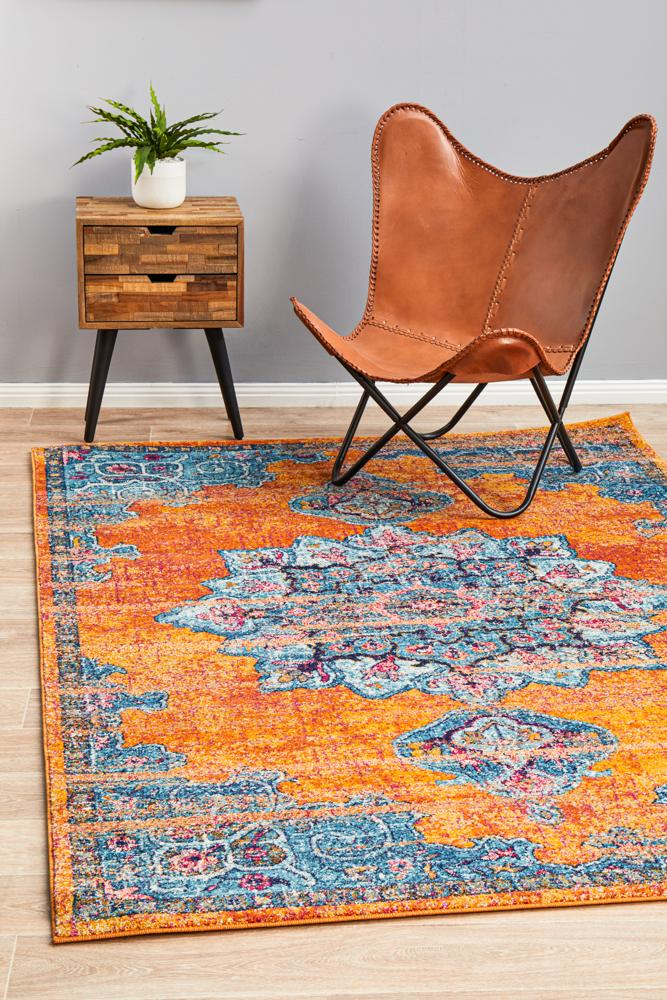 Evoke Artist Navy Transitional Rug
