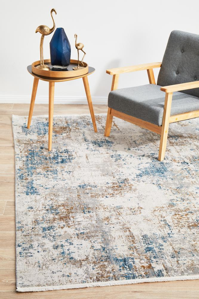 Evoke Muse Blue Transitional Rug