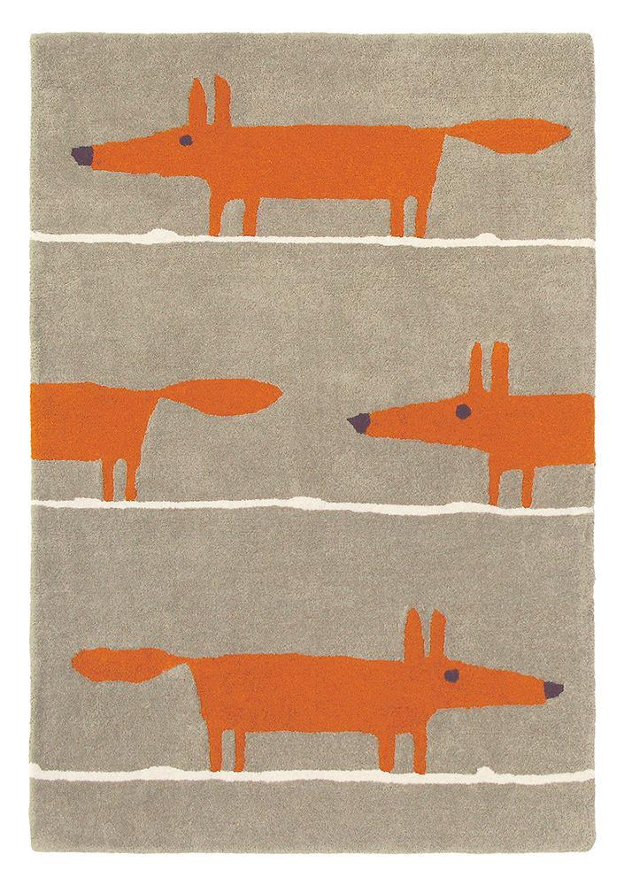 Scion Mr Fox Rug Cinnamon 25303