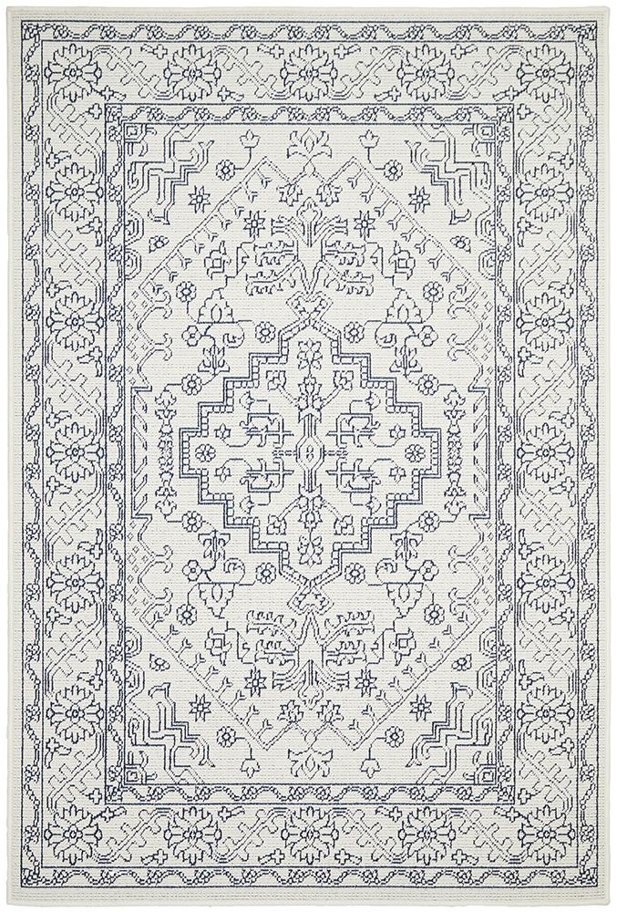 Seaside 5555 White Rug