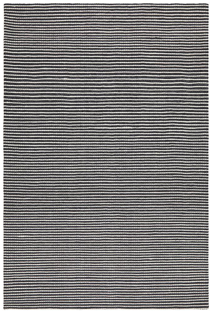 AXON Oskar Felted Wool Striped Rug Black White