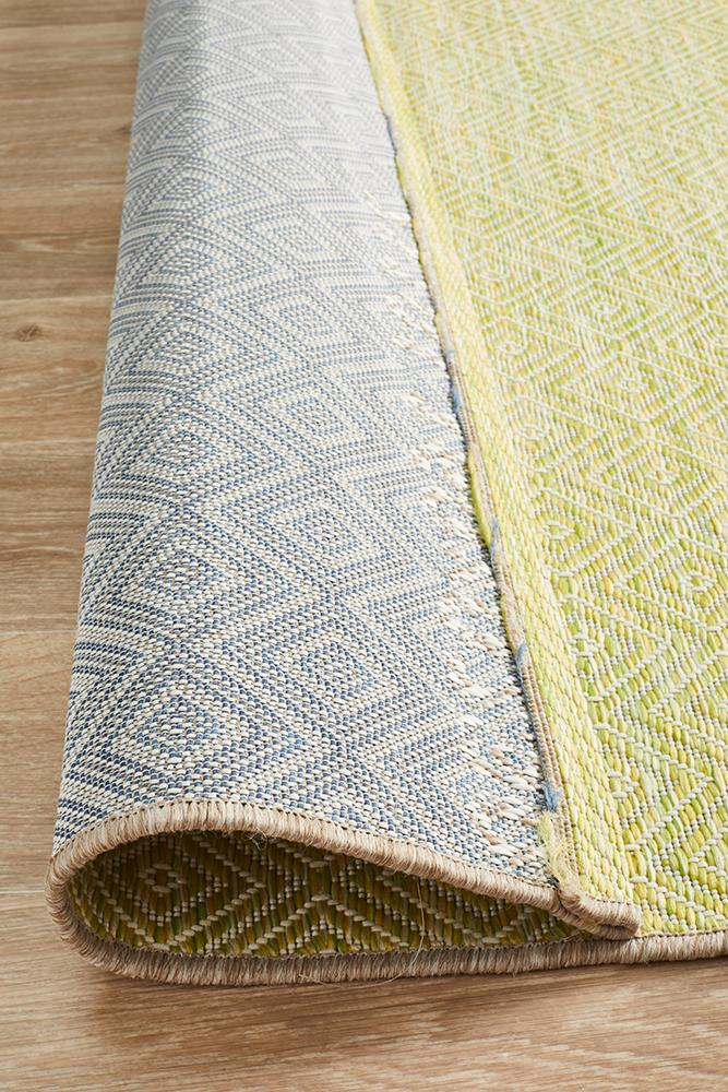 Tara Clara Diamond Rug Lime Green