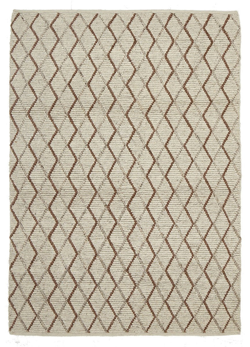 AXON Oberg Wool Diamond Rug Grey Brown
