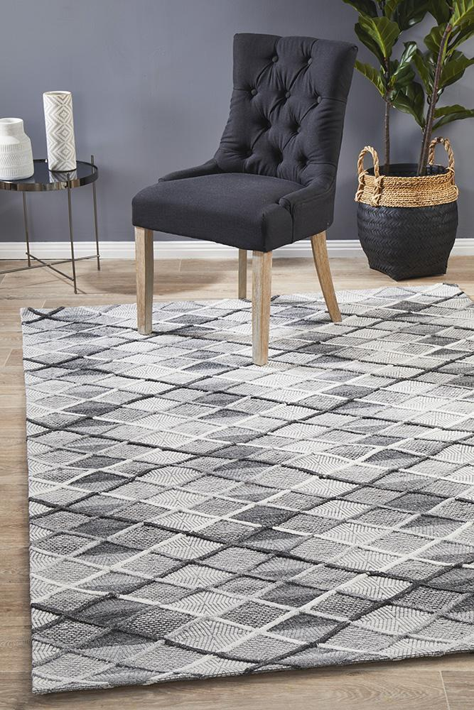 DOLLY Winter Grey Gravel Modern Rug